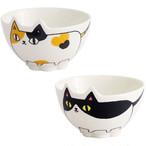 【猫3兄弟】猫型飯碗【お茶碗】