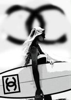 STARDESIGN 作品名:SURF GIRL A4ポスター【商品コード: gr01】