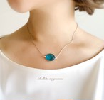 charme(魔法の薬) * 透きとおる水面のブルーグラスのネックレス