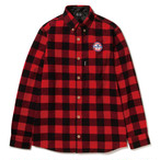 430 FOURTHIRTY L/S NEL PDNG SHIRTS RED サイズ2