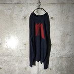 [used] triangle designed knit