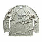 """CAST,CAST,REEL"" LONG SLEEVE T SHIRTS  BW-708   SAND KHAKI"