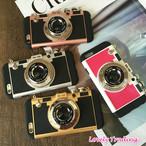 アンティーク カメラ型 iPhone シェルカバー ケース ( ローズ ブラック ホワイト ローズゴールド ゴールド ピンク ) ラグジュアリー ★ iPhone  SE / 5 / 5s / 6 / 6s / 6Plus / 6sPlus / 7 / 7Plus / 8 / 8Plus ★ [NW048]
