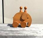 ゾウと子ども 北海道産カツラ材 ほぼ未使用品