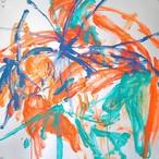 絵画 インテリア アートパネル 雑貨 壁掛け 置物 おしゃれ 抽象画 現代アート ロココロ 画家 : tamajapan 作品 : t-09