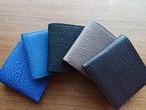サメ革二つ折り財布☆シンプルな定番人気商品(小銭入れ付き)