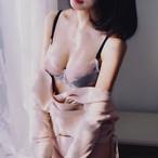 (B-Dカップ)【下着セット】エレガントワイヤーなしブラ&ショーツセット25702707