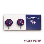 ■KASAMATSU-03 イヤリング。まる。〜ピアス変更可〜