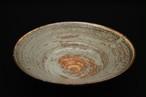 北海紅粉引きリム鉢