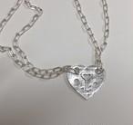 2way HEART punch Necklace/Bracelet SILVER925 #LJ19014N