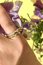 dot bicolor pinky ring set
