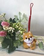 赤柴犬(うす茶)♡ちりめん根付ストラップ