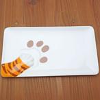 どろぼう猫 おさかなスクエアプレート(トラ猫)【猫柄 中皿】