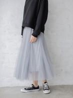【送料無料】チュールロングスカート