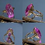 【Japanese traditional ring】昭和の懐かしいキャンディピンクカラーの指輪✨