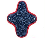 ブルーflower*ホルダー型布ナプキン*レギュラーサイズ*
