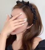 【カチューシャ】ミニリボンカチューシャ・ブラック