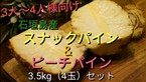 【送料無料】石垣島のスナック&ピーチパイン2種食べ比べ3.5kgセット(4玉)