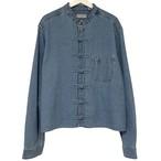Remake China Shirt 【 Denim Light Blue Long 】