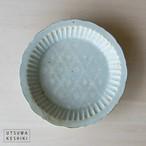 [マルヤマウエア] 花三島 深皿(花菱)