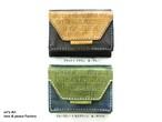 【受注生産休止中 6月より再開予定】三つ折りミニ財布 *6×6カラーパターン* OD-W-01-06