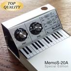 【メモ帳】MemoS-20A(アルミ仕様)シンセサイザー型・ペンスタンドメモ・SKP付き