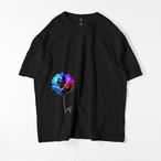 Flower-blue ビッグシルエットTシャツ ブラック / Mens