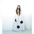 BEAR QUILTING DOTS LONG SKIRT / WOMEN