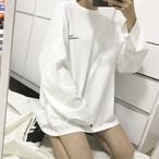 【tops】シンプル配色ラウンドネックTシャツ23029574