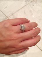 モアサナイト 2カラット ダイヤモンド  リング プラチナ