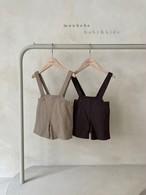 『翌朝発送』linen suspender-pants〈monbebe〉