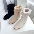 羊毛ハーフブーツ ブーツ ファー 韓国ファッション