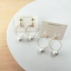 shiny pearl hoopピアス/イヤリング
