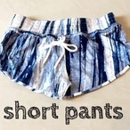 Tie Dye Stripe Cotton Short Pants コットンショートパンツ mix