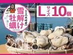 【雪解け牡蠣】生食用殻付き牡蠣  Lサイズ(10個)