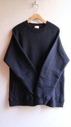 THE HINOKI コットンウール裏起毛 スウェットシャツ BLACK #TH19W-22