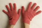 シルク手袋(茜染め) ほっこり 冷え取り 温活 冷え取り 出産祝い マッサージ