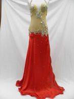 エジプト製 ベリーダンス衣装 コスチューム ボディストッキングタイプ レッド