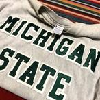 90's チャンピオン リバースウィーブ スウェット カレッジプリント ビンテージ Champion REVERSE WEAVE SWEAT 刺繍タグ(グレー,XL)ミシガン大学