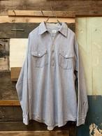 60's Lee half zip hickory stripe work shirt