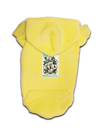 LOGO SPRAY ROSE PATCH PET HOODIE yellow