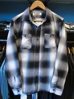 L/Sワークシャツ オンブレチェック ブラック