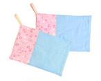カラフルmixダブルガーゼ 和風蝶リバーシブルふきん 台布巾 ぞうきん 雑巾 2枚セット