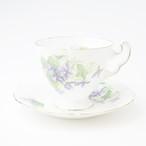 Royal Adderley ロイヤルアダレイ Purple violet ビンテージカップ&ソーサー 【イギリス】 アンティーク コーヒーカップ ティーカップ