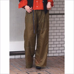 【RehersalL】parachute wide pants(Gold)& belt / 【リハーズオール】パッチワーク ワイドパンツ(ゴールド)ベルト付き