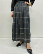 (PAL) plaid flare skirt