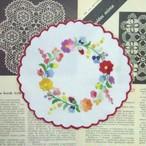 ドイリー ::: お花の輪のハンガリー刺繍