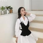 v neck long shirts + v neck camisole 2901