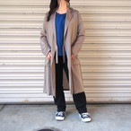 【hippiness】cupro coat( herringbone /24beige)/ 【ヒッピネス】キュプラ コート(ヘリンボーン/ベージュ)