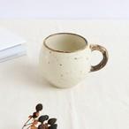 【SL-0077】磁器 タルマグカップ アイボリー×ブラウン